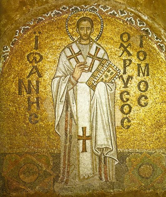 Mosaico de San Juan Crisóstomo en Santa Sofía (Constantinopla)