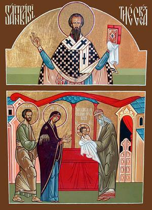 Doble icono de la Fiesta de la Circuncisión del Señor y San Basilio el Grande