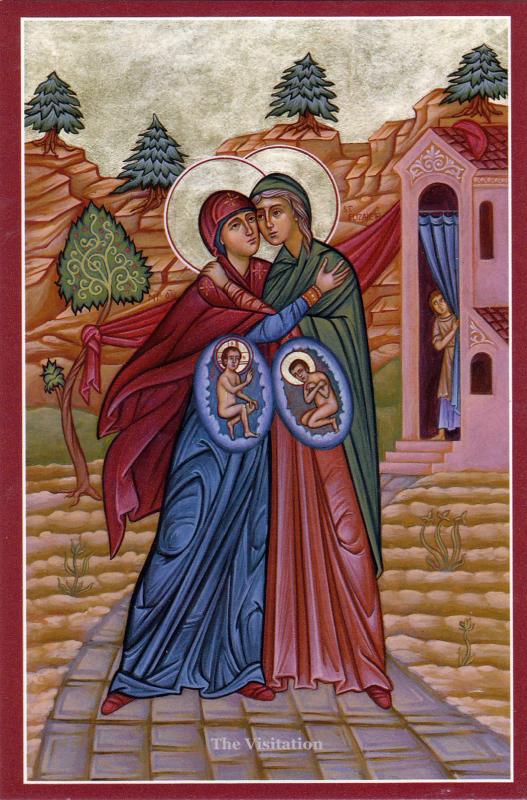 Icono de la visitación a Isabel