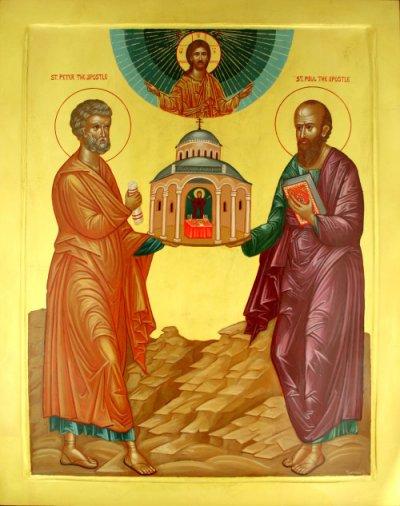 icono santos pedro y pablo