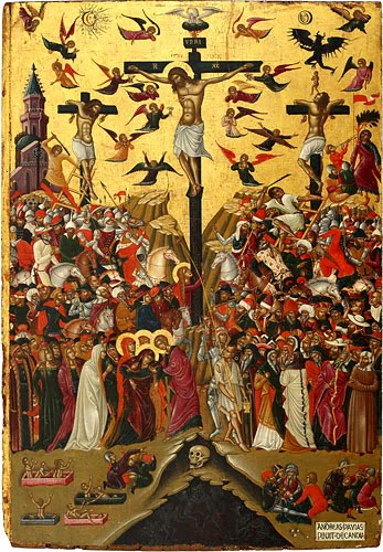 Andreas Pavias -The Crucifixion, late XVth century